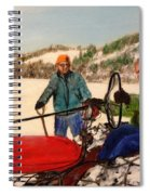 Dad And Denny In A Winter Field Spiral Notebook