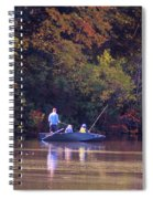 Dad And Sons Fishing Spiral Notebook