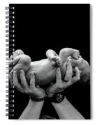 Dad With Baby Spiral Notebook
