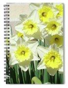 Daffodil Bouquet Spring Flower Garden Baslee Troutman Spiral Notebook
