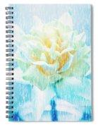 Daffodil Flower In Rain. Digital Art Spiral Notebook