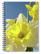Daffodil Flowers Artwork Floral Photography Spring Flower Art Prints Spiral Notebook