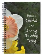 Daffodil Peach And Yellow Birthday  Spiral Notebook