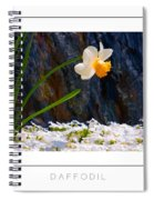 Daffodil Poster Spiral Notebook