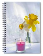 Daffodils And The Candle Spiral Notebook