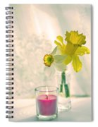 Daffodils And The Candle V3 Spiral Notebook
