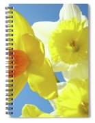 Daffodils Art Print Floral Sky Bouquet Daffodil Flower Baslee Spiral Notebook