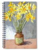 Daffodils In A Pot. Spiral Notebook