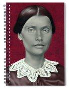 Daguerreotype Lady Detail Spiral Notebook