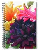 Dahlia Bouquet Spiral Notebook