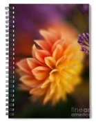 Dahlia Fireball Spiral Notebook