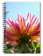 Dahlia Floral Garden Art Prints Canvas Summer Blue Sky Baslee Troutman Spiral Notebook