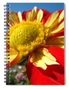 Dahlia Flower Art Prints Canvas Red Yellow Dahlias Baslee Troutman Spiral Notebook