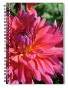 Dahlia Flowers Garden Art Prints Baslee Troutman Spiral Notebook