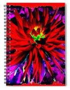 Dahlia Rouge Texture Avec La Frontiere  Spiral Notebook