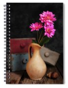 Dahlias And Drawers Spiral Notebook