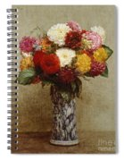 Dahlias In A Chinese Vase Spiral Notebook