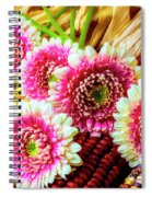 Daises On Indian Corn Spiral Notebook