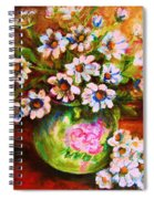 Daisies And Ginger Jar Spiral Notebook