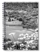 Daisies At Queens View In Greyscale Spiral Notebook