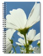 Daisies Floral Art Prints Canvas Daisy Flowers Blue Skies Spiral Notebook