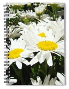 Daisies Floral Landscape Art Prints Daisy Flowers Baslee Troutman Spiral Notebook