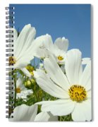 Daisies Flowers Art Prints White Daisy Flower Gardens Spiral Notebook