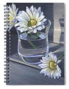 Daisies In Drinking Glass No. 2 Spiral Notebook