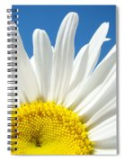 Daisy Art Prints White Daisies Flowers Blue Sky Spiral Notebook