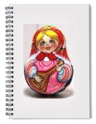 Daisy Balalaika Chime Doll Spiral Notebook