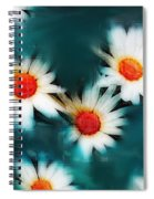 Daisy Blue Spiral Notebook