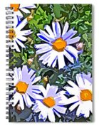 Daisy Flower Garden Abstract Spiral Notebook