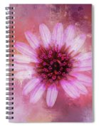 Daisy In Magenta Spiral Notebook