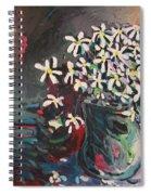 Daisy In Vase Spiral Notebook