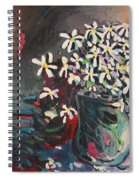 Daisy In Vase Spiral Notebook