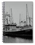 Dalena Black And White Spiral Notebook