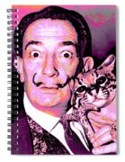 Dali With Ocelot And Cane Spiral Notebook