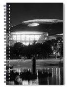Dallas Cowboys Stadium Bw 032115 Spiral Notebook