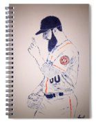 Dallas Keuchel Give Thanks Spiral Notebook