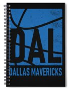 Dallas Mavericks City Poster Art Spiral Notebook