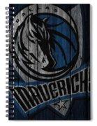 Dallas Mavericks Wood Fence Spiral Notebook