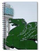 Dallas Pegasus Reunion Tower Green 030518 Spiral Notebook