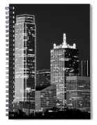 Dallas Shapes Monochrome Spiral Notebook