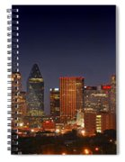Dallas Skyline At Dusk  Spiral Notebook