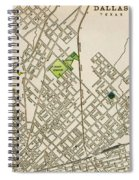 Dallas Texas Map 1899 Spiral Notebook