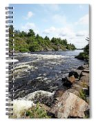 Dalles Rapids French River Iv Spiral Notebook