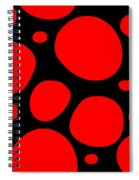 Dalmatian Pattern With A Black Background 02-p0173 Spiral Notebook