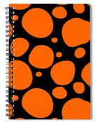 Dalmatian Pattern With A Black Background 03-p0173 Spiral Notebook