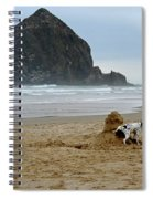 Dalmatian Peeing On Sandcastle Spiral Notebook