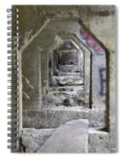 Dam Above Garwin Falls, Wilton, Nh Spiral Notebook